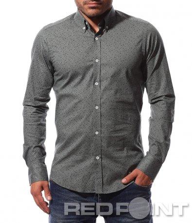 Ефектна риза с декориран десен 8727