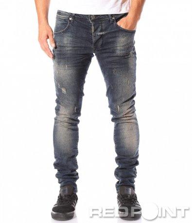Дънков панталон с ретро мотив 8733