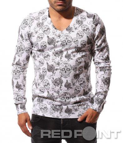 Блуза с оригинален десен 8741