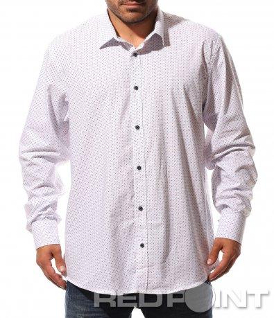 Отличителна бяла риза 8747