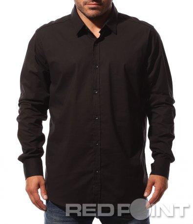 Официална черна риза 8752