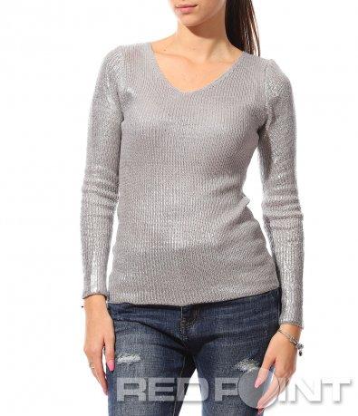 Вталена ефектна  блуза 8764
