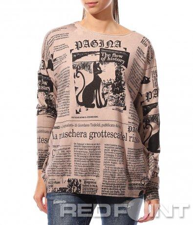 Розова блуза с надписи 8770