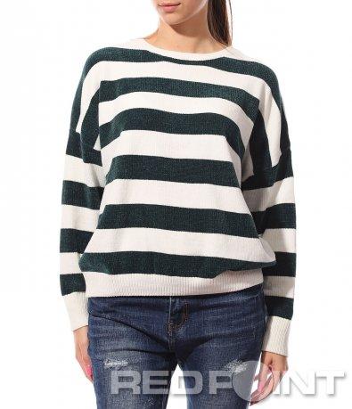 Раирана блуза с надпис 8760