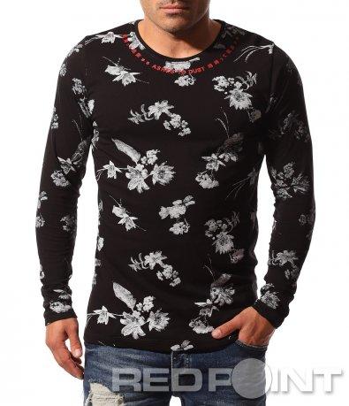 Класна блуза с флорален принт 8802