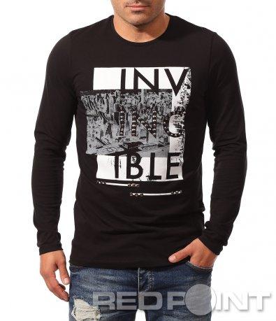 Черна блуза с надпис 8810