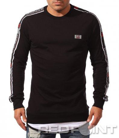 Авангардна черна блуза 8816