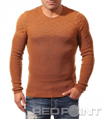 Отличителна блуза тип плетиво 8817