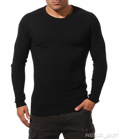 Вталена блуза тип плетиво 8847