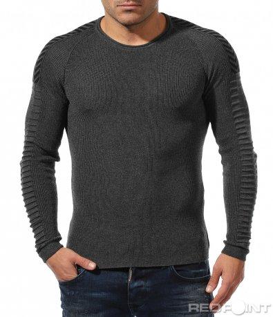 Пуловер с релефен акцент 8852