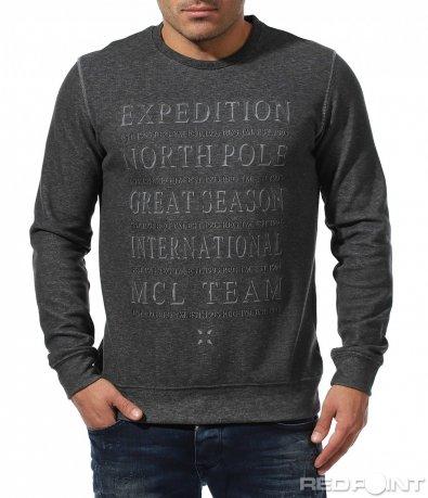 Есенна спортна блуза с надписи 8864