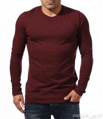 Едноцветна блуза в стилен дизайн 8865