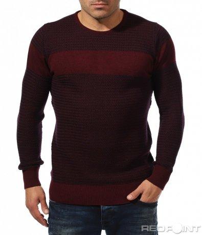Впечатляваща блуза в бордо 8869