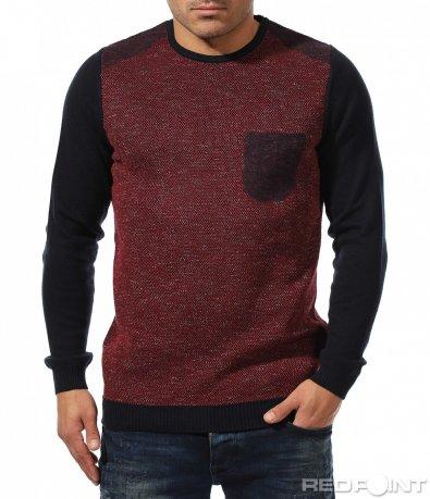 Топла блуза с декоративен джоб 8870