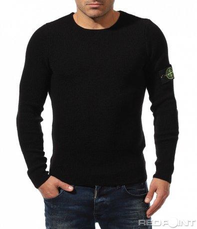 Черна блуза с акцент 8874