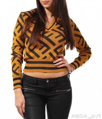 Интересна блуза с веобразно деколте 8876