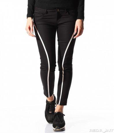 Спортно елегантен черен панталон 8885