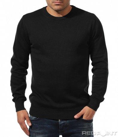 Едноцветна блуза с ластик 8896