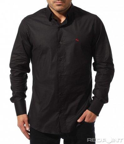 Класическа тъмно синя риза 8897