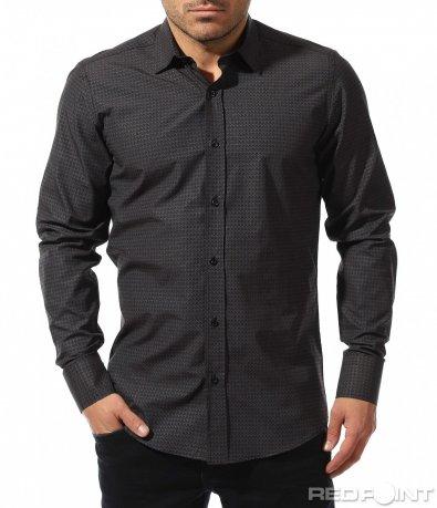Черна класна риза 8902