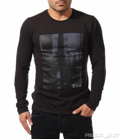 Еластична блуза с щампа 8906
