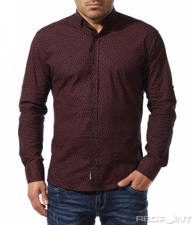Червена риза с орнаменти 8920
