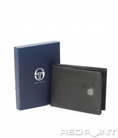 Кожен портфейл с кръгло лого 8956
