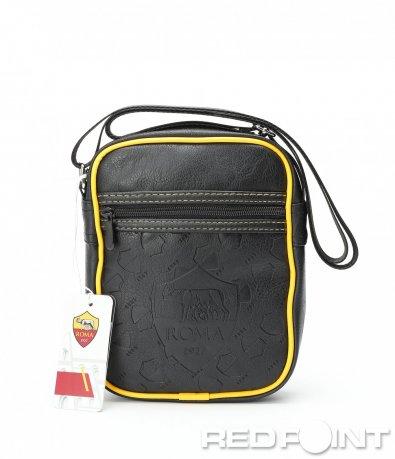 Спортна кожена чанта с лого 8986
