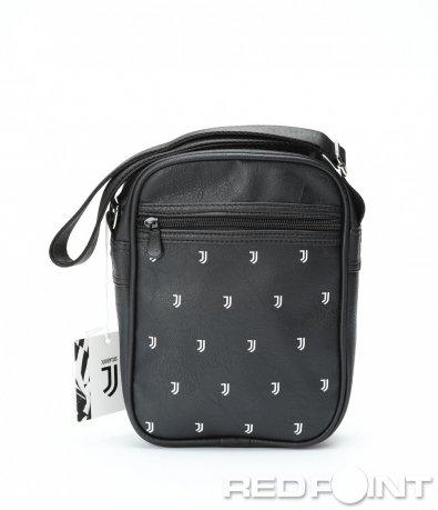 Ефектна черна чанта с емблеми 8987