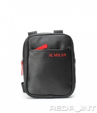 Черна кожена чанта Milan 8984