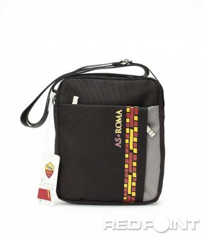 Черна чанта с цветен кант 8985