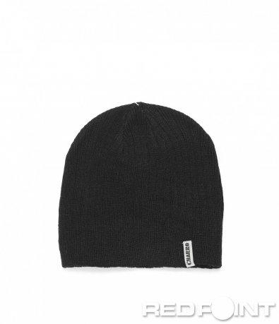 Черна шапка в семпъл дизайн 8998