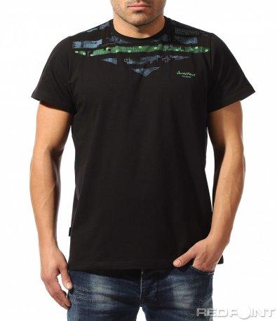Класическа тениска с акцентиращ мотив 9072