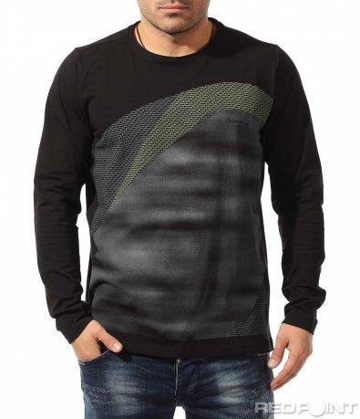 Стилна блуза с дълъг ръкав 9073