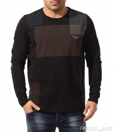 Памучна блуза с дълъг ръкав 9070