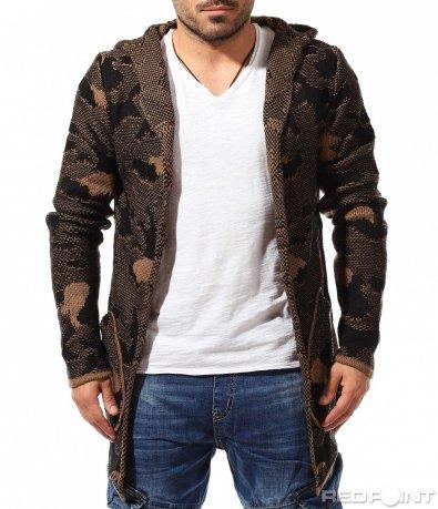 Авангарна плетена жилетка 9076
