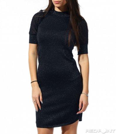 Вталена синя рокля 8883