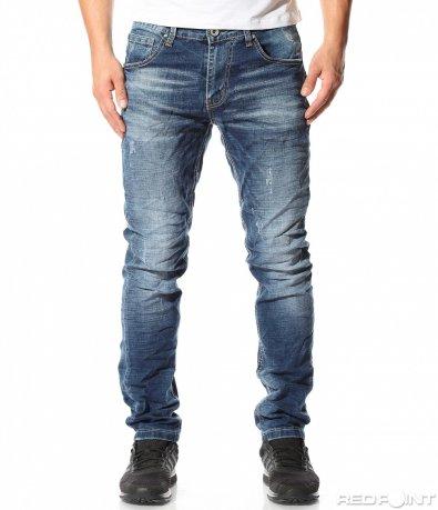 Ежедневен син дънков панталон 9095