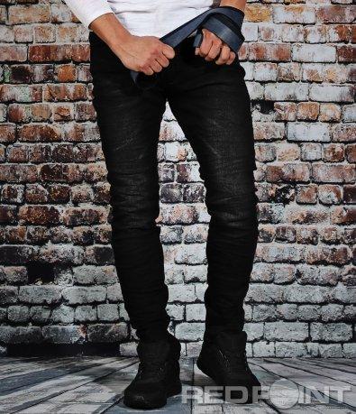 Черни еластични дънки 9096