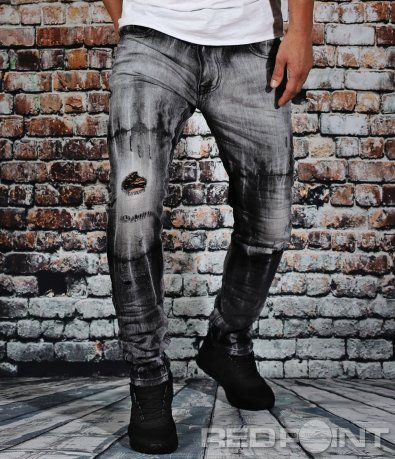 Нетипични сиви дънки 9102