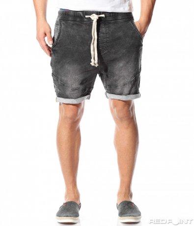 Спортни черни къси панталони 9108
