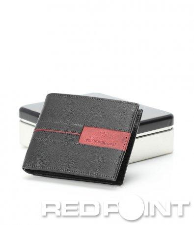 Черен кожен портфейл 9128