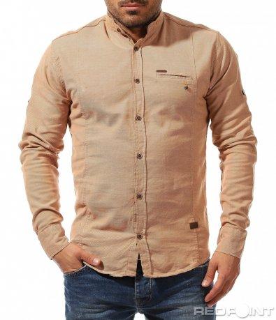 Памучна риза с ниска яка 9189