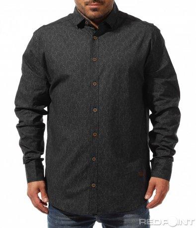 Стилна риза с мотиви 9190