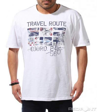 Памучна тениска с щампа 9169