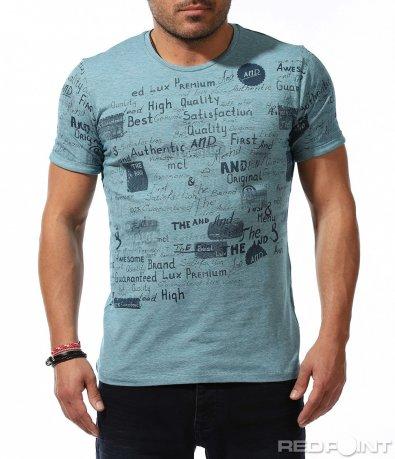Свежа пролетна тениска с надписи 9172