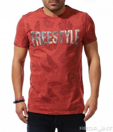 Лятна свежа тениска с надпис 9173