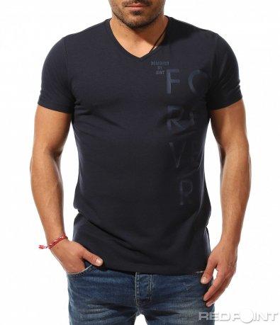 Семпла тениска с надпис 9175