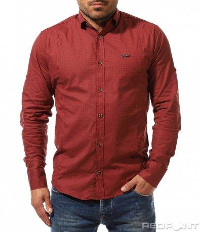 Актуална спортно елегантна риза 9191