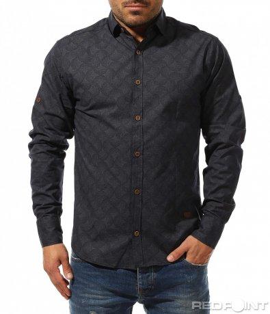 Удобна риза със семпъл принт 9193